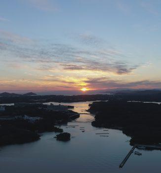 賢島大橋の夕景ポイント